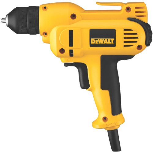 DEWALT Corded Drill, 8.0-Amp, 3/8-Inch, Variable Speed Reversible, Mid-Handle...