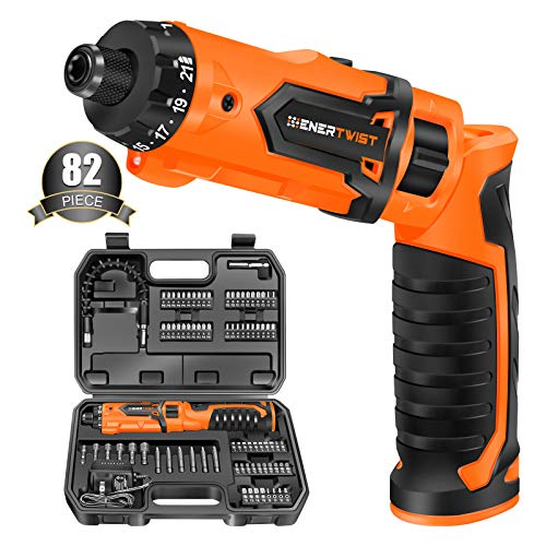 Enertwist Cordless Screwdriver, 8V Max 10Nm Electric Screwdriver Rechargeable...