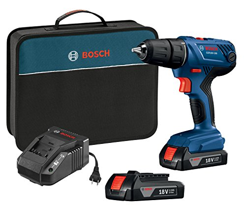 Bosch 18V Compact 1/2' Drill/Driver Kit with (2) 1.5 Ah Slim Pack Batteries...
