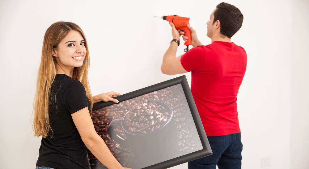 installing picture frames